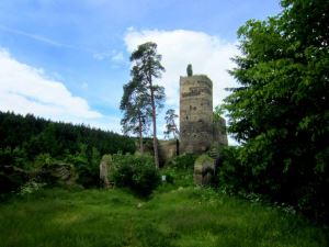 Joggingtour in Tschechien am 16.06.2013 zur Ruine Gut�tejn bei Bezdru�ic